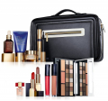 набор в чемодане Estee Lauder blockbuster black leather nude make up travel case